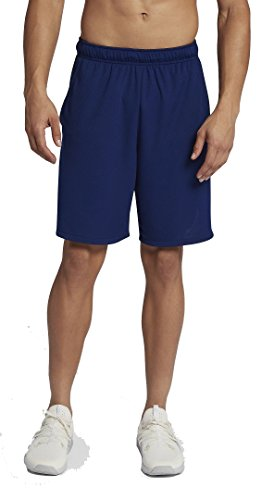 NIKE Men's Dry Training Shorts (Blue Void/Black, XL) (Nike Elastic Waist Shorts)