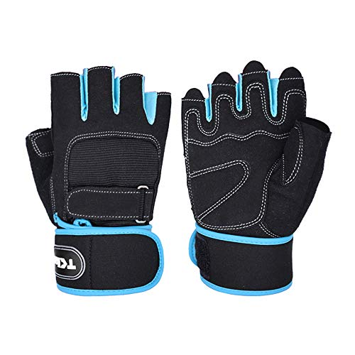 TClian 620 Weight Lifting Gloves Gym Gloves with Wrist Wrap