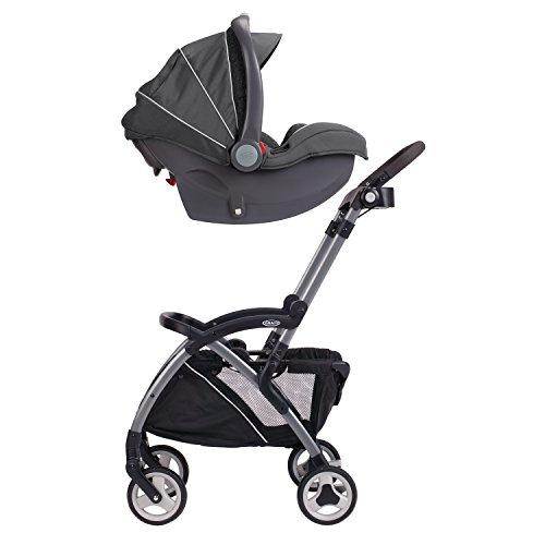 41DKgDBuJkL - Graco SnugRider Elite Car Seat Carrier | Lightweight Frame Stroller | Travel Stroller Accepts Any Graco Infant Car Seat, Black