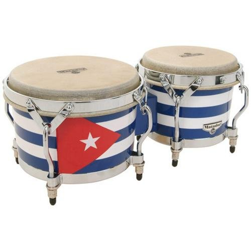Latin Percussion M201QBA Matador Cuban Flag Bongos