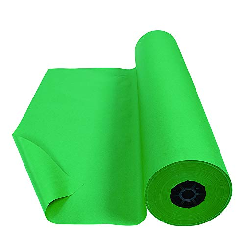 Colorations Dual Surface Paper Roll Classroom Supplies for Arts and Crafts Bright Green (36