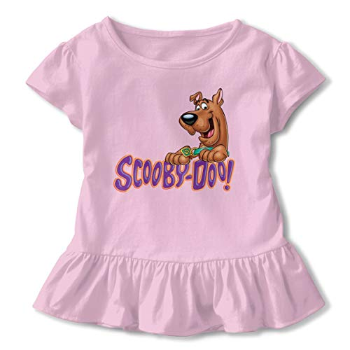 Scooby Doo Toddler Girls' Crew Neck Short Sleeve Ruffle Tee T-Shirts -
