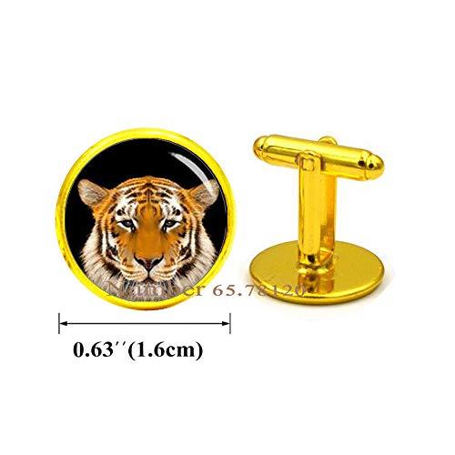 Yijianxhzao Tiger Head Cufflinks,Silver Tiger Cufflinks,Animal Cufflinks,Tiger Jewelry,Animal Jewelry,BV042 (V2)