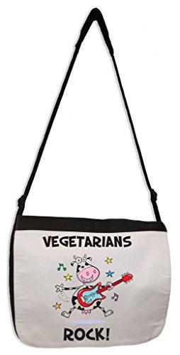 Tribal T-Shirts Vegetarians Rock Laptop Messenger Bag (Vegetarian Merchandise compare prices)
