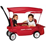 Radio Flyer Ultimate Comfort Canopy Wagon Dimensions: 42''L x 18.8''W x 13.8''H