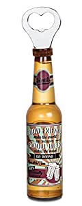 Pavilion Gift Company 22098 Friends Magnetic Bottle Opener, 8-1/4-Inch, Beer All The Time