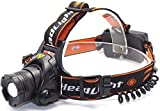 Leyuee Zoomable Headlamp LED Sensor Switch 3 Mode Super Bright Headlight with 4 pcs Rechargeable Batteries USB Charging Cable
