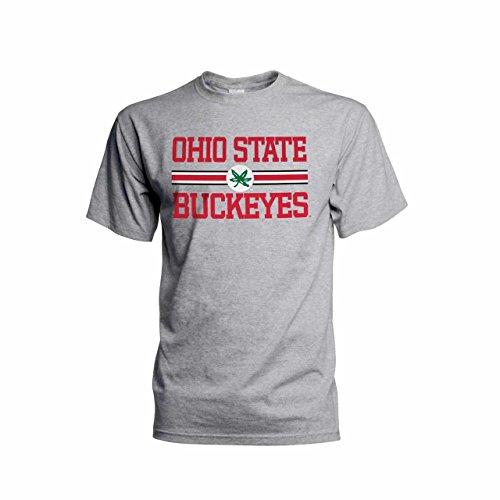- Top of the World Ohio State Buckeyes Adult Bold Logo Short Sleeve T-Shirt - Gray, Large