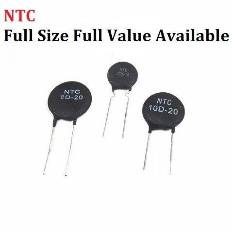 S-Smart-Home - 10pcs Thermistor NTC 5D-7 5D-9 5D-11 5D-15 5D-20 8D-20 10D-9 10D-11 10D-13 10D-15 10D-20 10D-25 47D-15 Thermal ()