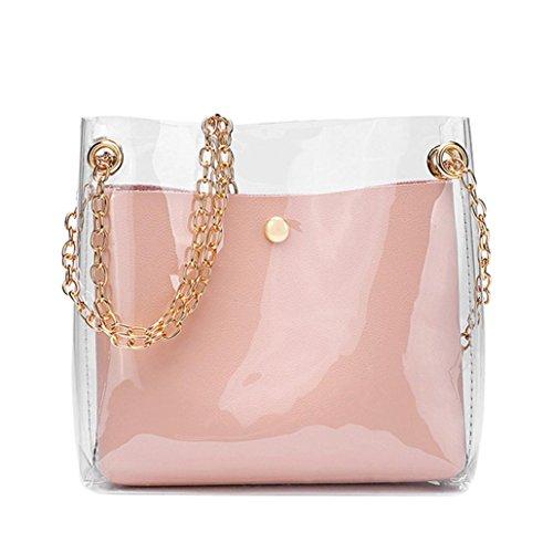 Messenger cinturino bag Bag shopping borsa moda solido borsa spalla Sling nuova della Rosa signore tracolla Sacchetto moneta estate con Donna Messenger Borsa a tote telefono wYgXRRqF