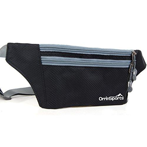 Zipper Black Waist Bum Bag Fanny Pack Travel Pocket - 8