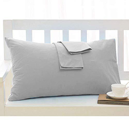 Travel Pillow Case 14x20 Size Natural Cotton Zipper Pillow Cases Set of 2 Travel Pillowcase 600 Thread Count 100% Egyptian Cotton 2 Pack, Toddler Pillowcase Silver Gray Solid Zipper Closer