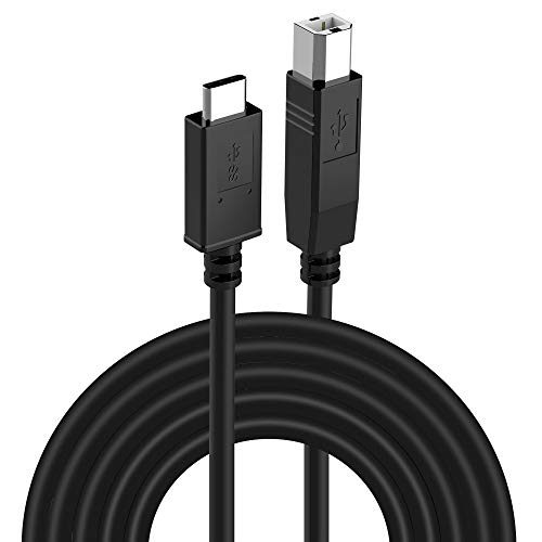 UMECORE USB Printer Cable, 10ft USB Type C to USB Type B 2.0 Cable Type C Printer Scanner Cord for MacBook Pro, HP, Canon, Brother, Epson, Dell, Samsung Printers(Silver)