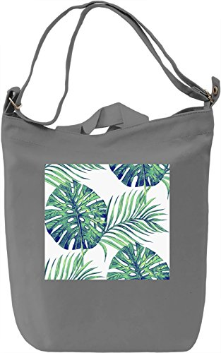 Leaf Pattern Full Print Borsa Giornaliera Canvas Canvas Day Bag  100% Premium Cotton Canvas  DTG Printing 