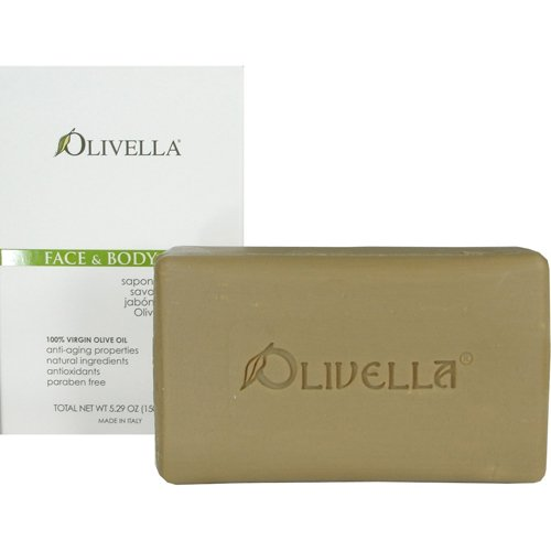 Bar Soap 100% Virgin Olive Oil Face & Body Olivella 5.29 oz Bar Soap
