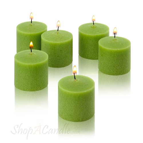 Light In The Dark Lime Green Votive Candles - Box of 12 Unscented Candles - 10 Hour Burn Time - Candles for Weddings, Parties, Spas and Decorations