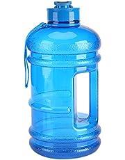 Akozon 2.2L زجاجة مياه رياضية للتخييم وصالة الألعاب الرياضية سعة كبيرة في الهواء الطلق