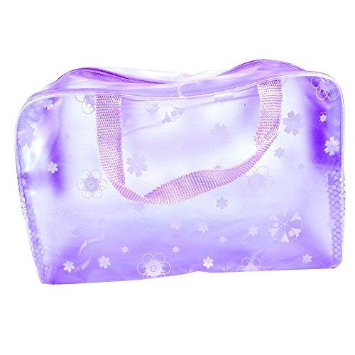 EYX Formula Mini Flower Waterproof Makeup Bag Washing Bag Toiletry Kit Bag, Essential Portable Travel Bag Storage Organizer for Women Ladies(Purple)