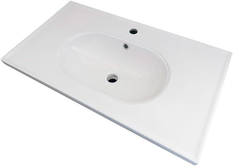 Randalco 32 x 18 Inch Classic Rustic Vintage Porcelain Vanity Sink Top