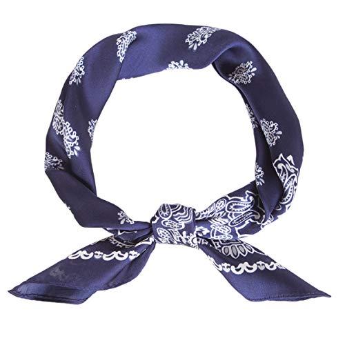 Lusm Silk Feeling Square Scarf Hair Scarves Neckerchief Beach Bandana Satin Headscarf