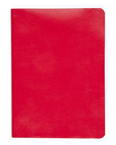 Soft Faux Leather Bound Jounal red 400 Pages 6 x 8 Lined Paper