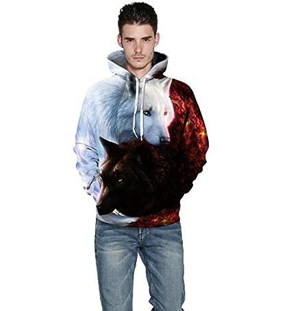 SAINDERMIRA Unisex Fashion 3D Digital Galaxy Pullover Hooded Hoodie Sweatshirt Athletic Casual with Pockets