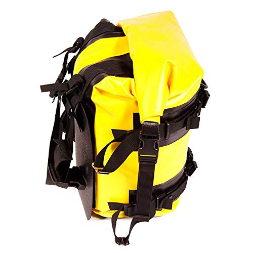 Wolfman Expedition Dry Saddle Bags - Black/Yellow