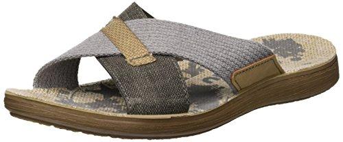 INBLU Men's Varano Flip Flops Grey (Grigio 025) BBTc81f5J7