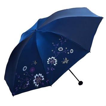 Olici Paraguas De Sol Protección Uv Super Proteccion Solar Sombrilla Tres Plegable Que Cambia De Color