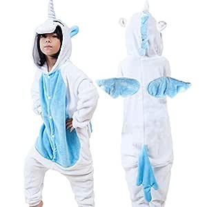 Kids Unisex Cosplay Costumes Pajamas Multi-Colors Unicorn Onesie Gift