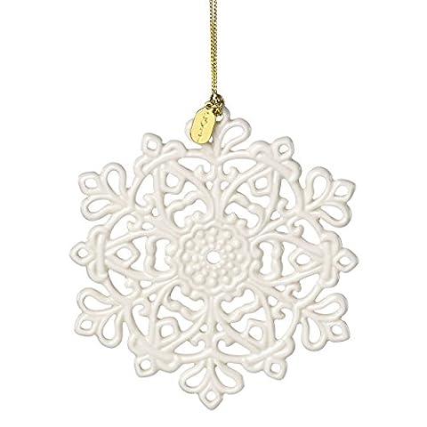 Lenox Annual China Ornaments 2017 Snow Fantasies Snowflake - Lenox Crystal