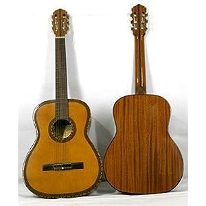 Musikalia Klassische Figaro-Gitarre mit reichem Mosaik-Deck und Loch, Vintage-Gewebe, hergestellt von 1970 bis 1990