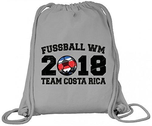 ShirtStreet Fußball WM Fanfest Gruppen Trikot Premium Bio Baumwoll Turnbeutel Rucksack Stanley Stella Team Costa Rica Heather Grey xPuzK0rMV