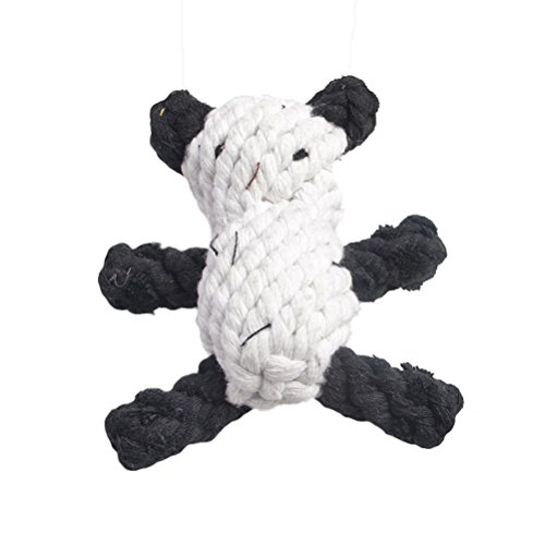 Freerun Dog Toys Pet Cotton Chew Rope Panda Toy Dental Teaser Teeth Cleaning for Smaller Dog Puppy Biting