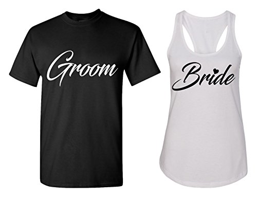Couples Apparel Groom and Bride Matching Bachelorette Party T Shirts - Bridal Tank Tops - Party Womens Shirt