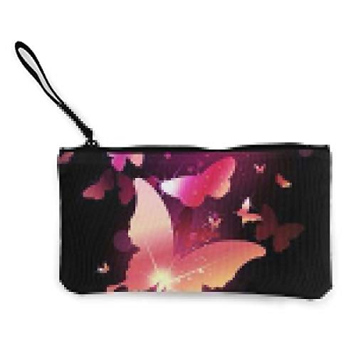 Canvas Coin Purse Butterfly Benchmade Cosmetic Makeup Storage Wallet Clutch Purse Pencil Bag (Butterfly Benchmade)