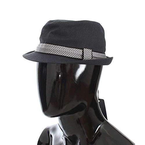 Dolce & Gabbana Blue Patterned Cotton Trilby Hat