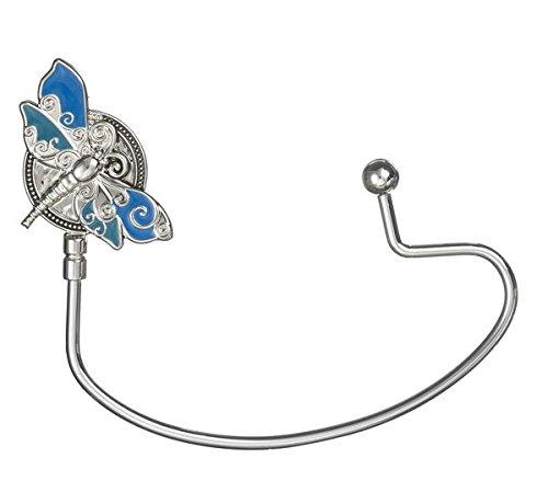 Blue & Silver Dragonfly Handbag Hook by Ganz