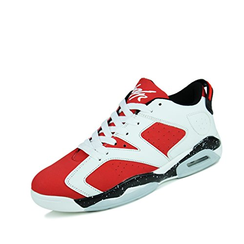 adulto LFEU blanco de rojo bajo Unisex botas caño f6w8qX