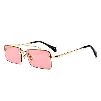 BFQCBFSG Gafas De Sol para Hombre Y Mujer Retro Caja ...