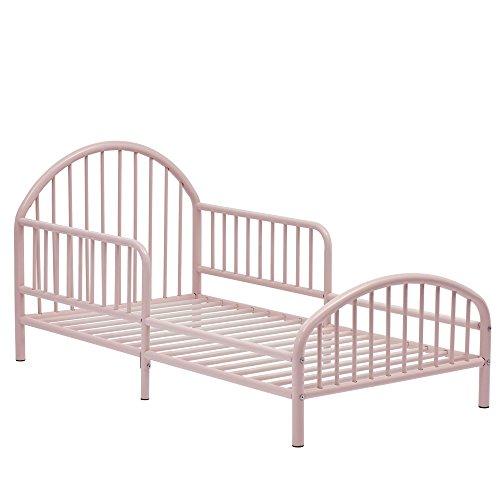 Novogratz Prism Metal Toddler Bed, Pink