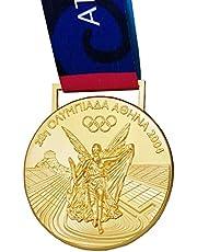 Griekenland Olympische medaille Souvenir, 2004 Athene Olympische Spelen gouden medaille, 1:1 zinklegering badge, collectible souvenir