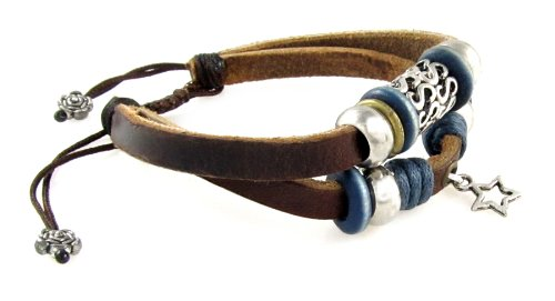 how to make adjustable leather bracelet