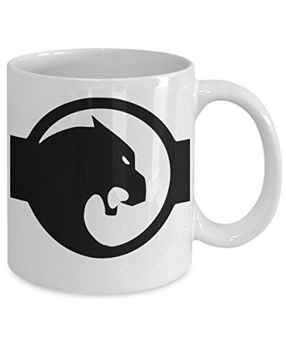 Black Panther Mug - Cool Ceramic Coffee Mug for the World's Best Graphic Novel Black Panther Marvel Fans - Birthday Christmas Chanukah Comic Con Gift