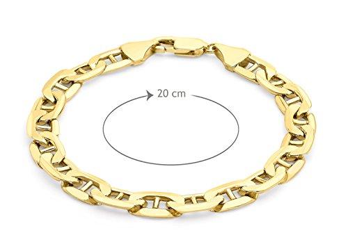"Carissima or 9 ct Jaune or 200 Rambo Bracelet chaîne de 20 cm/8 """