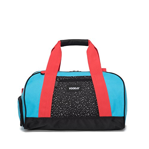 vooray-burner-16-compact-gym-bag-turquoise-red