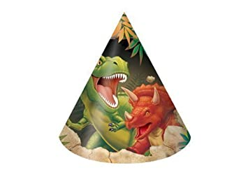Dinosaur Party Dino Blast Dinosaur Party Cone Hats x 8