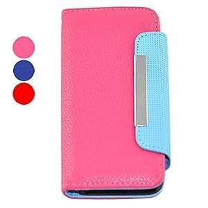 compra Color del caramelo de cuero del caso de cuerpo completo para el iphone 5/5s (colores surtidos) , Azul