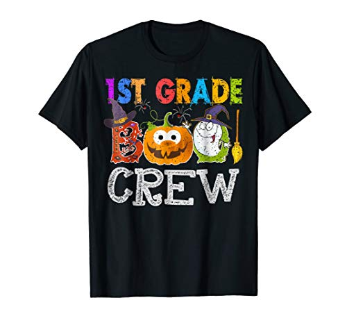 1st Grade Boo Crew Teacher Gift Tshirt Halloween Costume ()