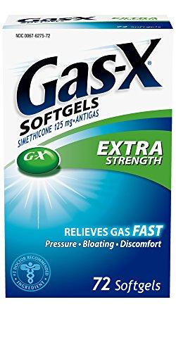 Gas-X Antigas, Extra Strength, 125 mg, 72 Softgels
